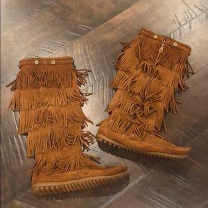 ❤️NWOT❤️ Minnetonka Fringe Tall Boot